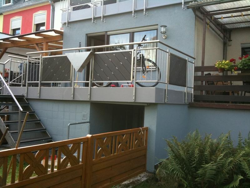 edelstahl balkongel nder preis auf anfrage metall. Black Bedroom Furniture Sets. Home Design Ideas