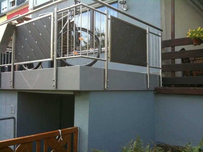 balkongel nder edelstahl preise metallteile verbinden. Black Bedroom Furniture Sets. Home Design Ideas